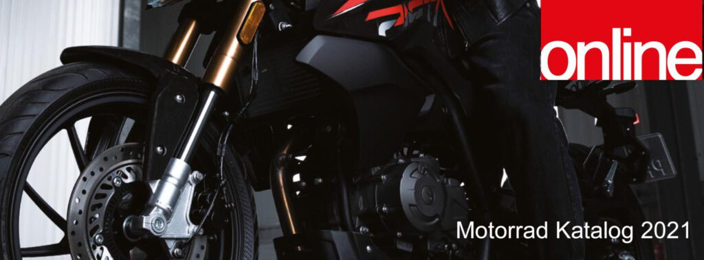 Online Motorrad Titelbild katalog